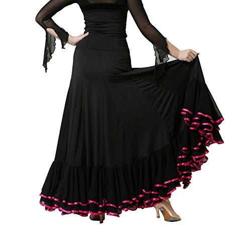 Mujer Q De jiu Pantalón Baile fibra Negro Leche Para EXZXrqw