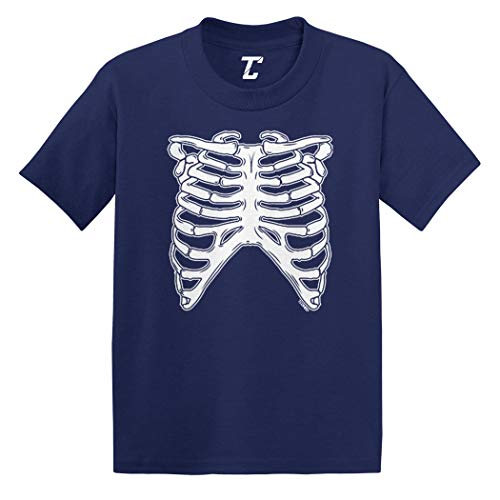 Skeleton Ribcage - Halloween Costume Infant/Toddler Cotton Jersey T-Shirt (Navy, 5T) ()