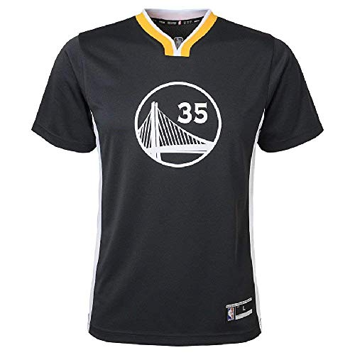 Kevin Durant Golden State Warriors NBA Youth Black Charcoal Alternate Replica Jersey (Youth Small 8)