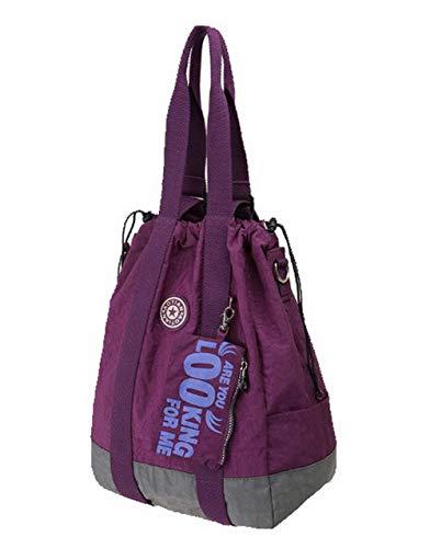 Femme Tout Sacs Violet GMBBA182382 Sacs à fourre Lac de Tons AgooLar Bleu Nylon bandoulière Deux AwqBd4nUC
