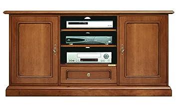 Mobile porta tv classico alto, credenza per tv 2 porta 1 cassetto 3 ...