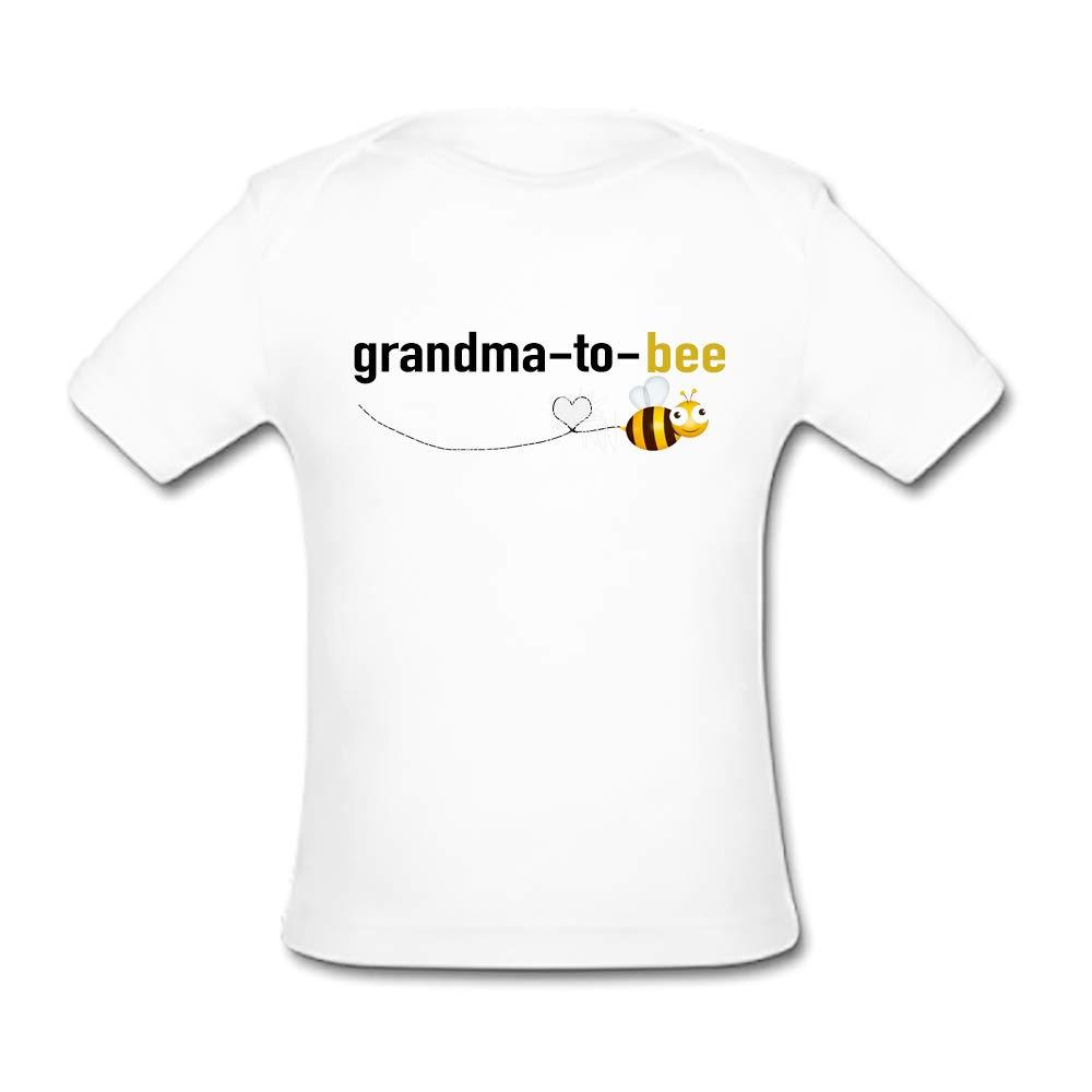 BrowneOLp Grandma to Bee Baby Organic Short Sleeve T-Shirt White