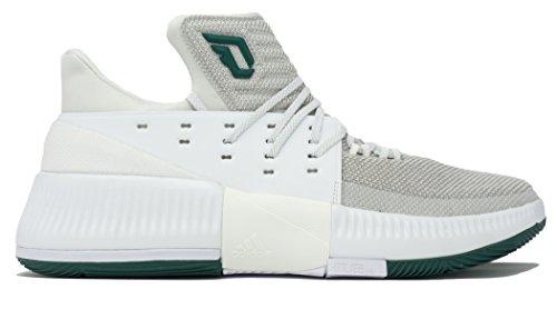 Adidas Dame 3 Nba / Ncaa Schoen Basketbal Van Mensen Wit-collegiale Groen