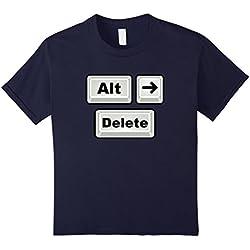 Kids Alt Right Delete Anti-Hate T-Shirt 12 Navy