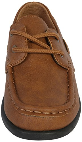 Jodano Collection Boys Slip on Boat Shoes with Memory Foam Insole, Tan, 10 M US Toddler' by Jodano Collection (Image #5)