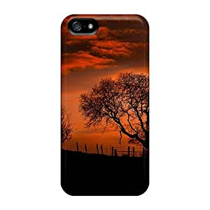 linJUN FENGIphone 5/5s Case Cover - Slim Fit Tpu Protector Shock Absorbent Case (sunset)