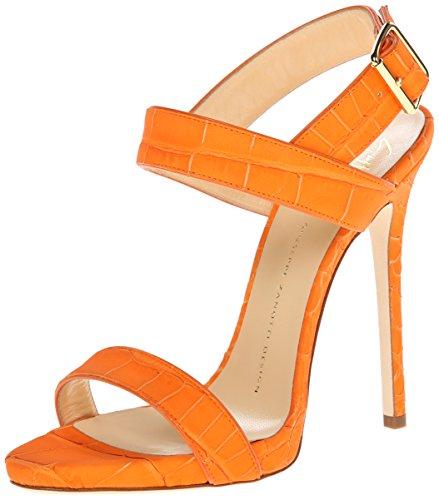 Giuseppe Zanotti Women's Dress Sandal, Sombry Orange, 6.5 M US