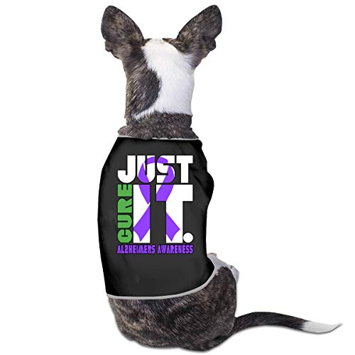 DLOAHJZH-Q Just Cure Alzheimers Cancer Awareness Small Dog Cat Clothes Pet Sleeveless T Shirt
