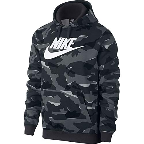 Grey anthracite M Camo Bbgx Sweat shirt Nike Nsw white Club Homme Po Hoodie Cool ypUWCKd4