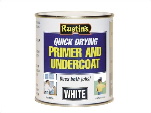 Rustins White Primer (Rustins WHPU1000 Quick Dry Primer & Undercoat White 1 Litre by Rustins)