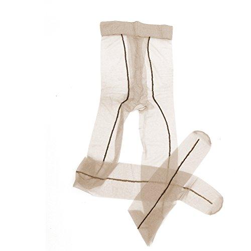 Women Lady Soft Vintage Ultra-sheer Ultra Thin 5 Denier Transparent Toe Backseam Control-Top Tights Pantyhose Stockings (Style (Control Ultrasheer Leg Pantyhose)