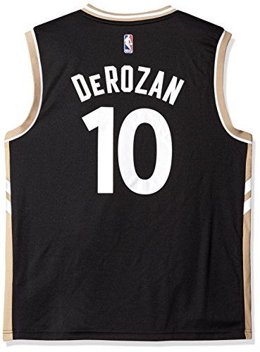 NBA Toronto Raptors DeMar DeRozan #10 Men's Alternate Road Replica Jersey, X-Large, Black (Raptors Black Jersey)