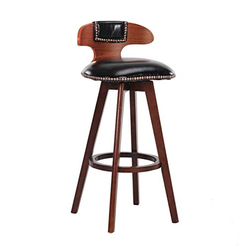 SZPZC Barstools Chair, Hemp Rope Footrest PU Swivel Seat, High Stools Dining Chairs for Breakfast Kitchen | Pub | Café Bar Stool Max. Load 440lb in Black Bar Chairs 27' Square Bar Table