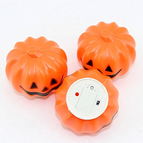 1Pc Professional Popular Halloween LED Nightlight Party Lamp Favor Pattern Round Pumpkin Color