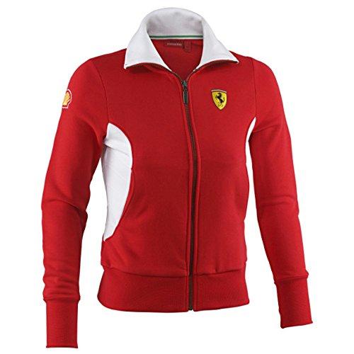 14 Giacca 40 Sweat Uk Rosso Zip F1 Scuderia shirt L Donna Cotone Da Ferrari Sport D wXOTRqw
