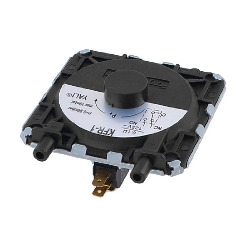 Uxcell AC 125V 5A Gas Water Heater Pressure Switch 0.9Mbar-10Mbar