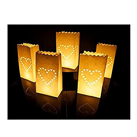 Amazon.com: Ishine 10 paquetes Luminary linterna de papel ...