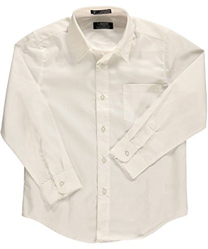 French Toast School Uniform Boys Long Sleeve Classic Dress Shirt, White, 20
