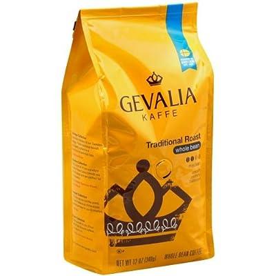 Gevalia Traditional Roast Whole Bean Coffee, 12 Ounce -- 6 per case.