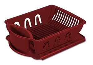 Sterilite 06215806 2-Piece Sink Set, Classic Red, 6 Pack