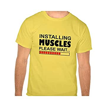 Installing Muscles Funny T-Shirt