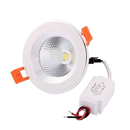eDealMax AC85-265 5W LED COB empotrada en el techo Panel Downlight Lamp Spotlight blanco