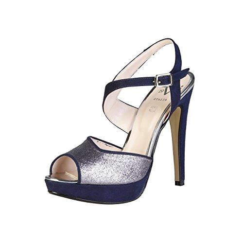V 1969 - CALIXTE_BLU Sandalias De Vestir Para Mujer Tacón 12.5 cm, Plataforma 2.5 cm