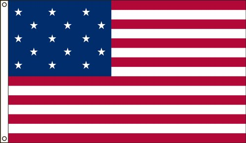 Valley Forge Flag 3-Foot by 5-Foot Nylon Star Spangled Banner Historical Flag with Canvas Header and Grommets
