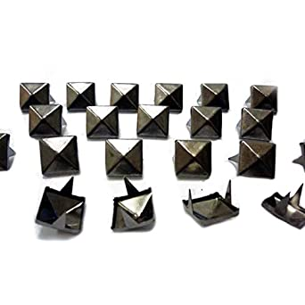 055c166a Trimming Shop 100 Spike Square Studs Rivets In Silver / Nickel For Leather  Clothing Bags Jeans