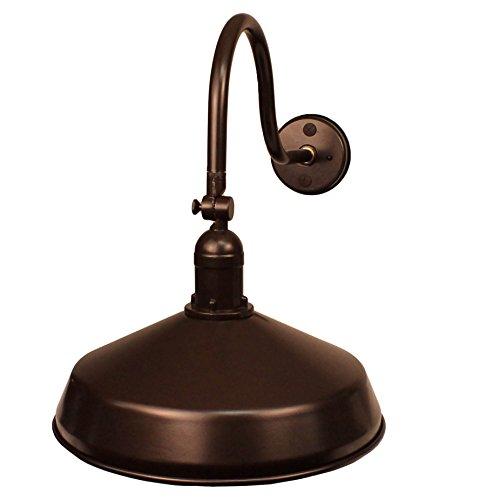 Keeper Stop Sign - AQLighting ADLXSV925, Barn Lighting with Weatherproof Design, Solid Cast Swivel, UL Certified Medium Base Socket, Indoor/Outdoor Barn Light (Bronze)