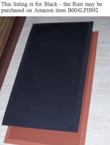 The Next Generation Gel-Anti-fatigue Kitchen Mats, Flat Black Rubberized Gel Foam, new thicker, new edges. 20
