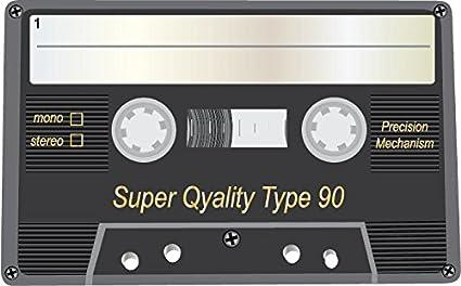 Audio Cassette Super Quality Type 90 Alta Calidad De Coche De Parachoques Etiqueta Engomada 12 x