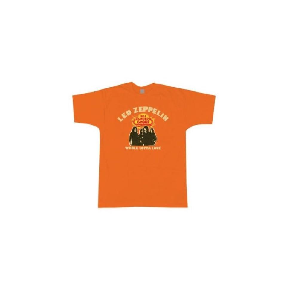 Led Zeppelin Whole Lotta Love Orange T shirt (Large) Clothing