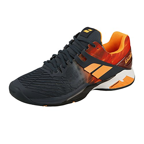Babolat Men's Propulse Fury AC Tennis Shoes (Grey/Orange) (6.5 D(M) US)
