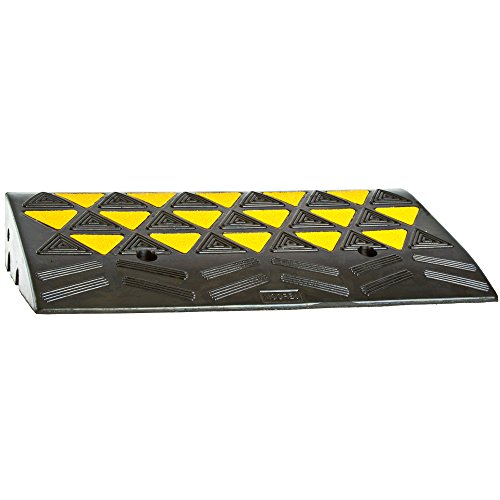 Rubber Curb Ramps (Rage Powersports KR30R Heavy Duty Warehouse Industrial Rubber Reflective Curb Ramp)