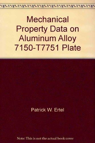 Mechanical Property Data on Aluminum Alloy 7150-T7751 Plate