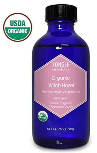 Zongle USDA Certified Organic Witch Hazel, Hamamelis Virginiana, 4 OZ ()
