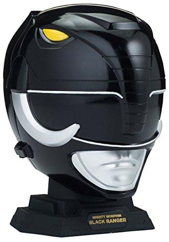 Power Rangers Legacy Mighty Morphin Black Ranger Helmet Display Set]()