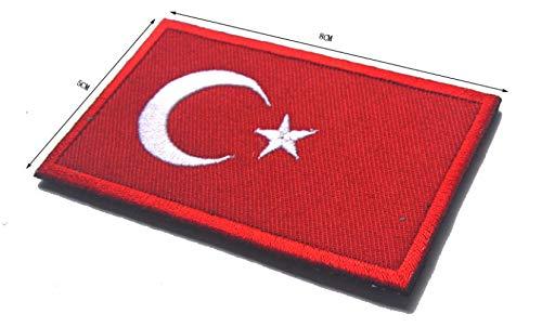 nouler Flag Turkey Cloth Sticker Embroidery Armband Velcro Sticky and Ready to Use,Turkey,One Size