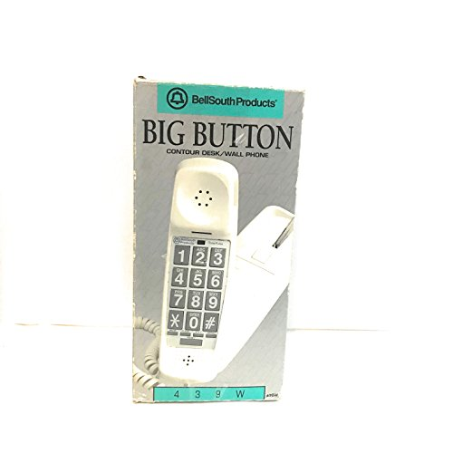 BellSouth Wall Telephone Bell South Big Button Contour Desk/Wall - Wall Phone Bell