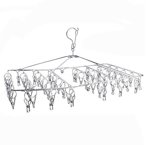 DX DA XIN Hanging Drying Rack - 52 Clips Clothes Drying Rack