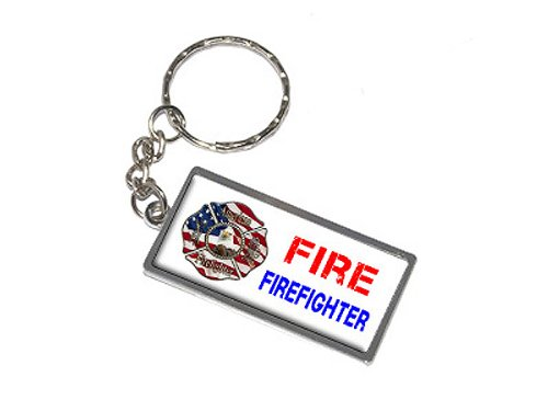 Graphics and More Fire Fighter Firemen Keychain Ring (K0508)