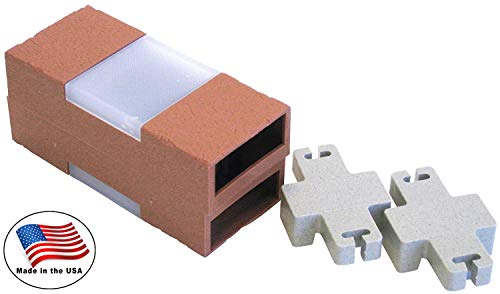 Argee RG840S Let's Light It 40-Foot Decorative Plastic Brick Edging with 6 Built-In Solar Lights, Terra Cotta