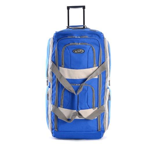 41%2Bq9CBPiOL - Olympia 8 Pocket Rolling Duffel Bag, Royal Blue
