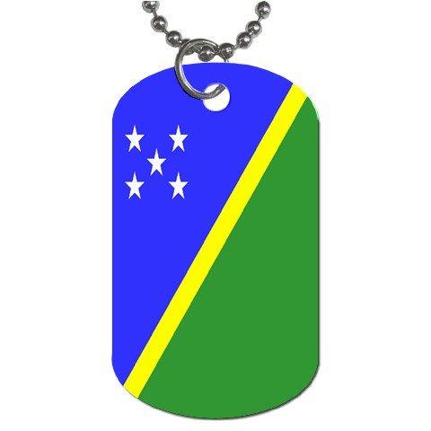 - Solomon Islands Flag Dog Tag
