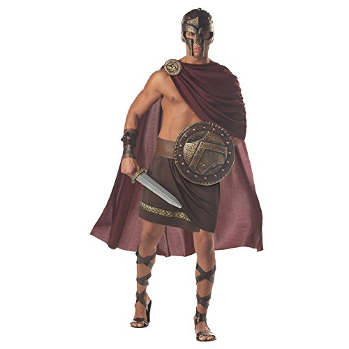 Iud Costumes - California Costumes Men's Spartan Warrior,Brown,X-Large
