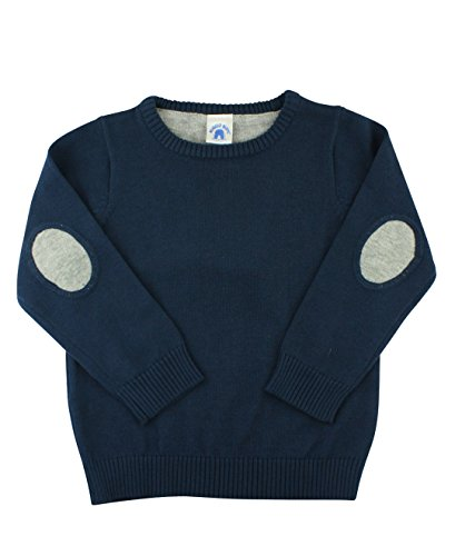 Baby Boys Long Sleeved Cardigan - RuggedButts Infant/Toddler Boys Long Sleeve Navy Blue Pullover Sweater w/Pockets - Navy - 3-6m