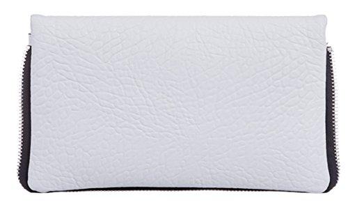 Sintético Cartera De Mujer Material Girly Blanco Handbags Mano Para qgOwHnX7H