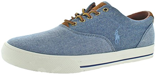 Polo Ralph Lauren Vaughn Men's Canvas Fashion Sneakers Blue Size - Slip On Ralph Lauren