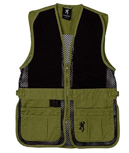 Browning Junior Trapper Creek Vest, Sage/Black, Medium